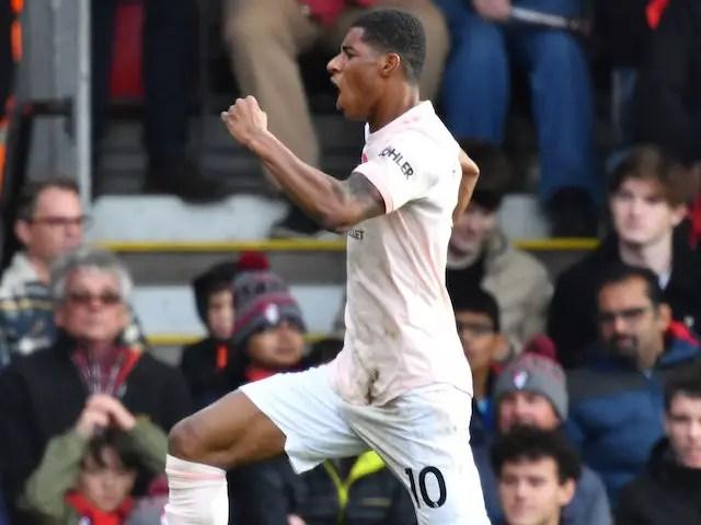 Rashford Late Strike Earns Manchester United 2-1 Win At Bournemouth
