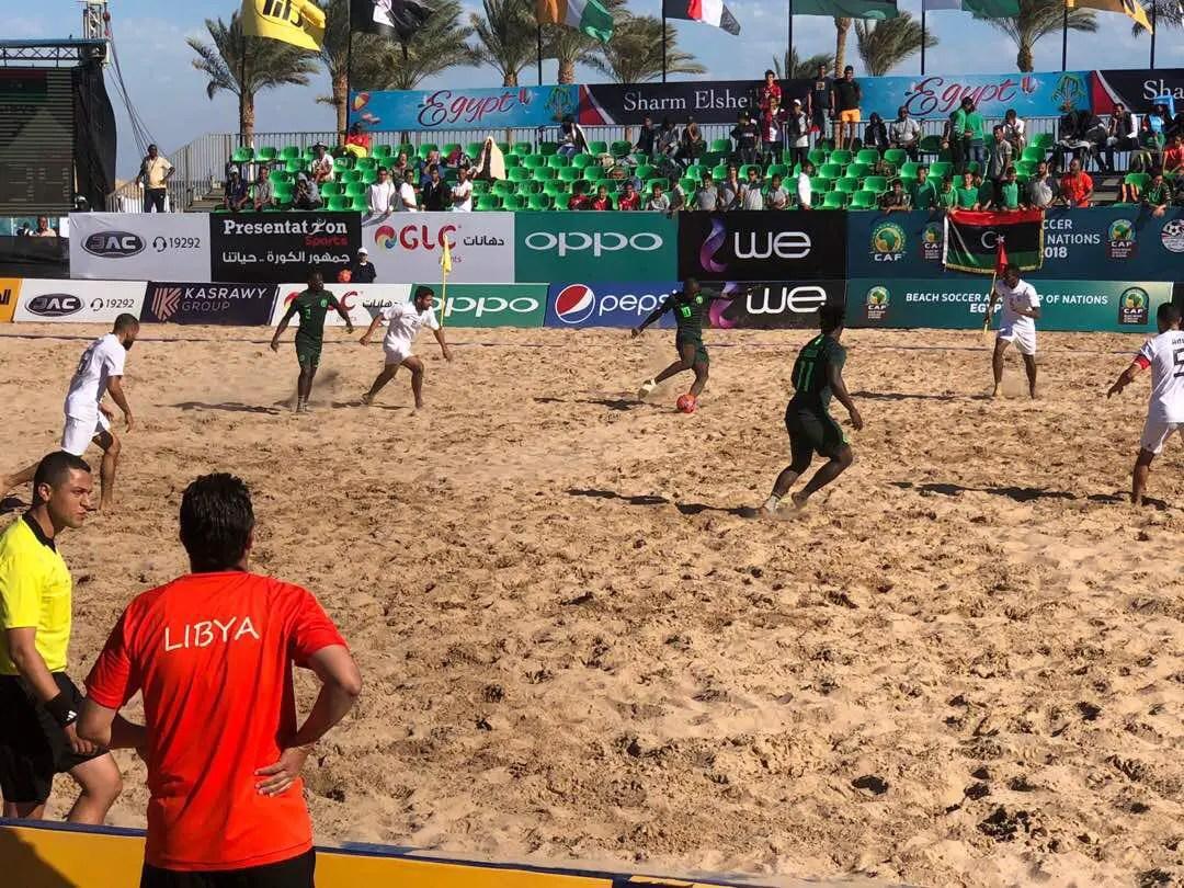 Beach Soccer AFCON 2018: Super Sand Eagles Bag 1st Win, Pip Libya 6-3