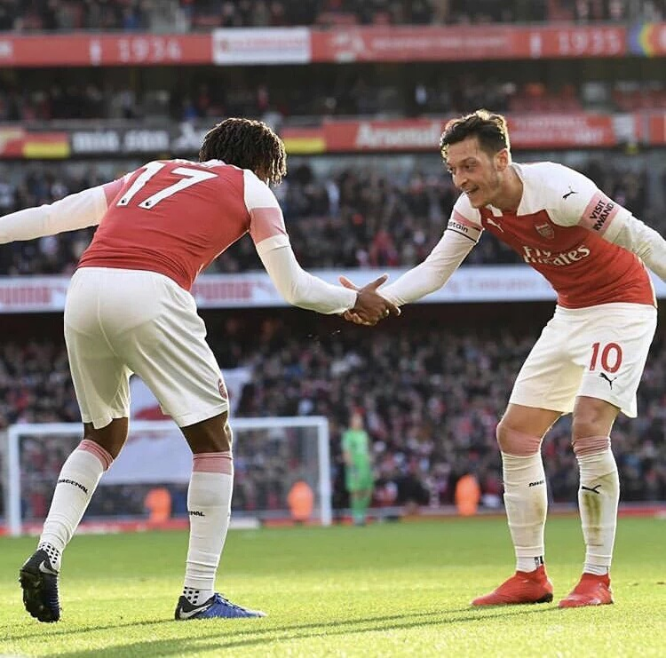 Iwobi Celebrates  Impressive Arsenal  Home Win Vs Burnley