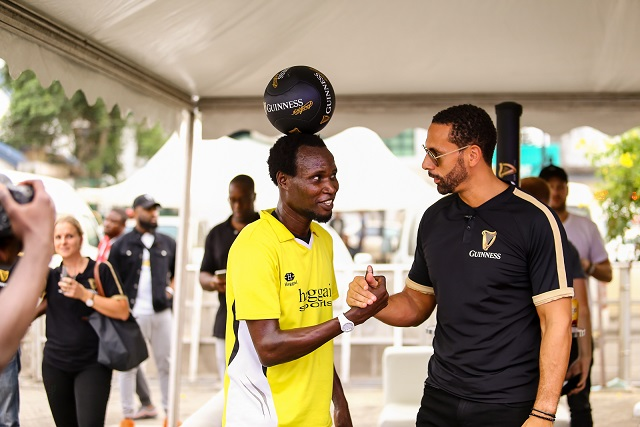 Rio Ferdinand And Guinness World Record Holder Play Football In Lagos.