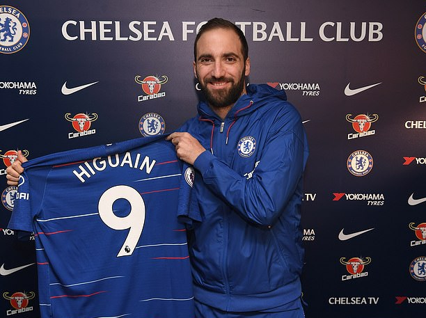Higuain Joins Chelsea On Loan, Declares: I Can't Wait To Start Playing'