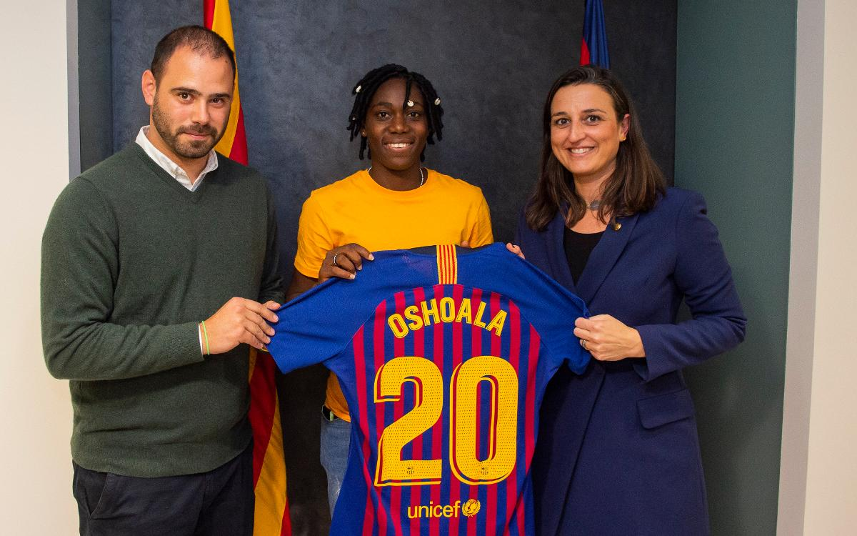 Oshoala Delighted To Join 'Best Club In The World' Barcelona