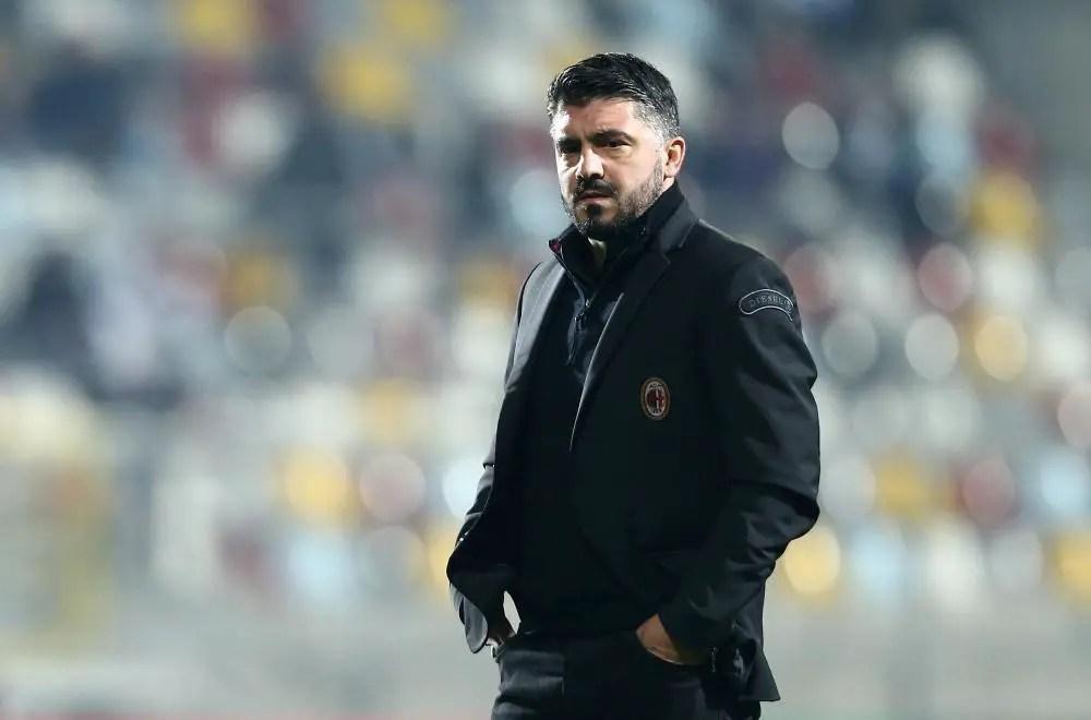 Gattuso Salutes Milan Defence