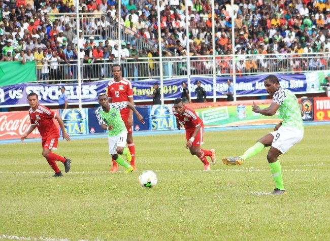 AFCON 2019Q: Eagles Pip Seychelles 3-1, Win Group E With 13 Points