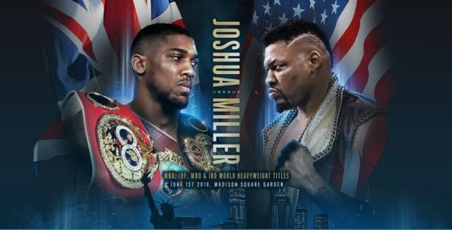Anthony Joshua Next Fight Confirmed: 'Big Baby' Miller At MSG In June