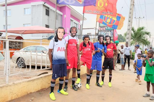 Paul Pogba, Eden Hazard And Raheem Sterling Storm Lagos In Entertaining Showpiece (Video)
