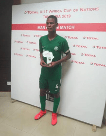 Tijani Thrilled To Win Man Of The Match Award In  Golden Eaglets Win Vs Angola