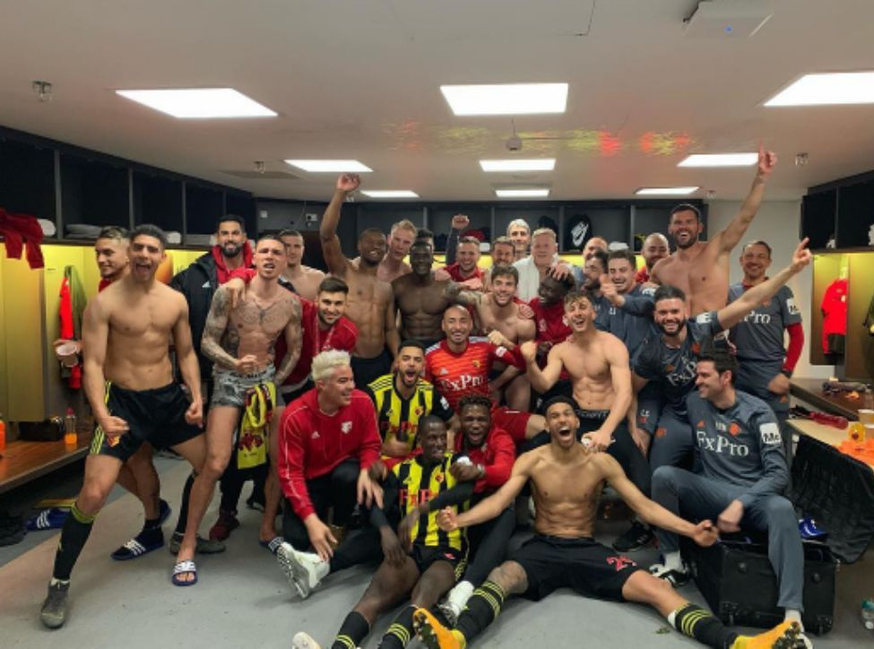 Success Celebrates Watford FA Cup Final Feat