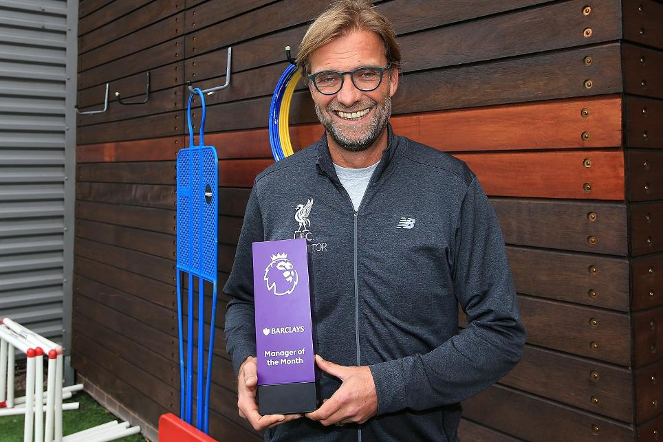 Klopp Wins EPL Manager Of The Month Award