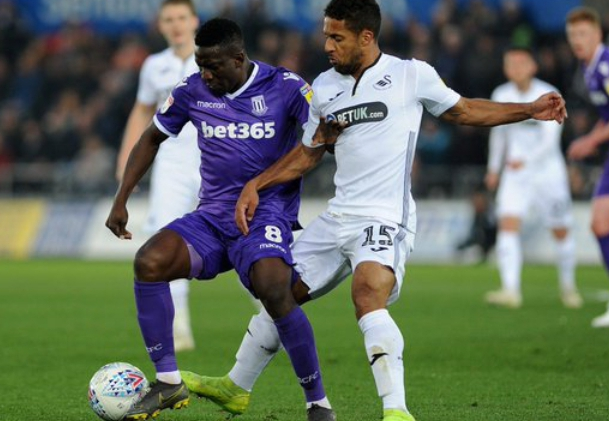 Stoke City Boss Jones Explains Etebo's Substitution In Defeat At Swansea