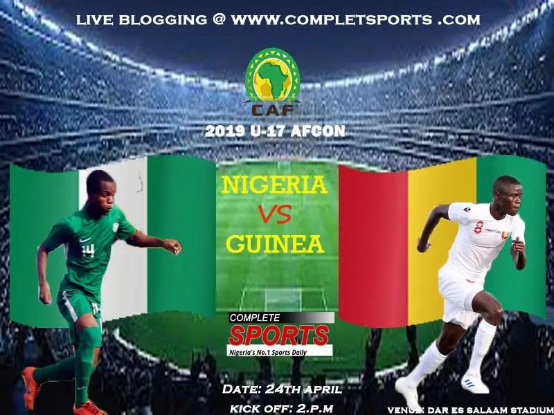 Live Blogging: Nigeria Vs Guinea (U-17 AFCON)