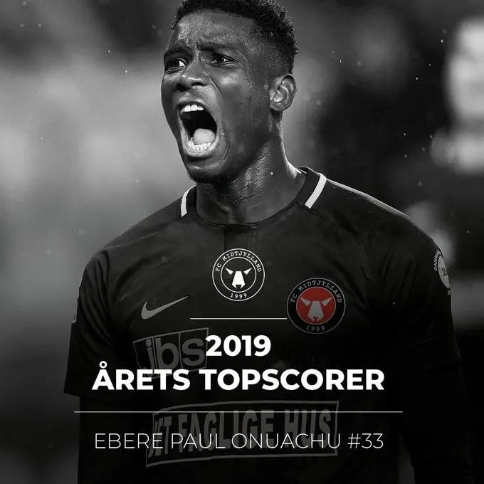 Onuachu Wins Midtjylland Top Scorer Award For Third Consecutive Season