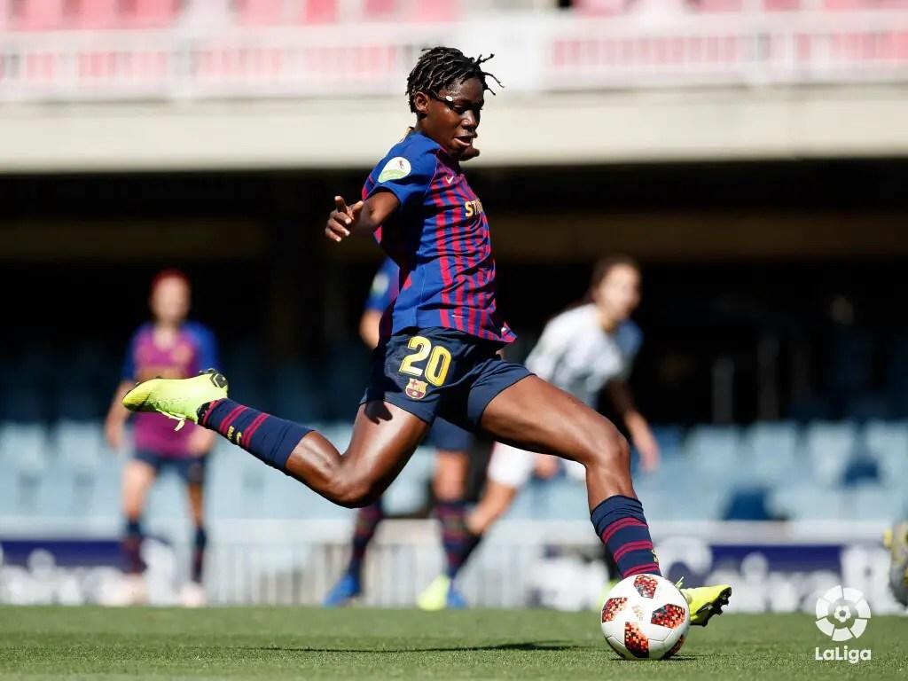 Oshoala On Target As Barcelona Ladies Fall To Lyon In Champions League Final