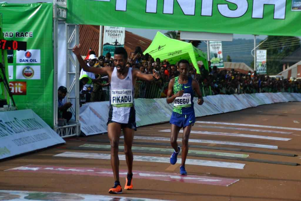 Bahrain's Fikadu Dawit Wins Men's 7th Okpekpe 10km Race; Kenya's Chelangat Dusts Women