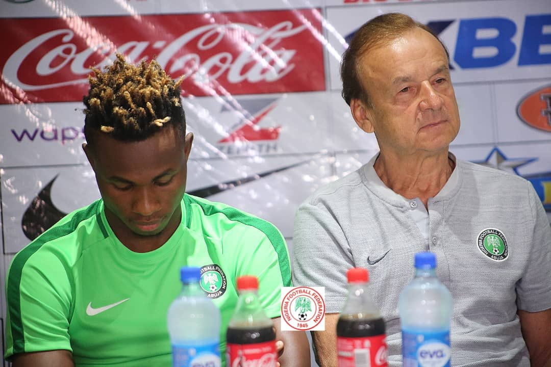 Rohr: Eagles Played Very Well Vs Zimbabwe; Mikel Is Back, Iheanacho's Status Undecided