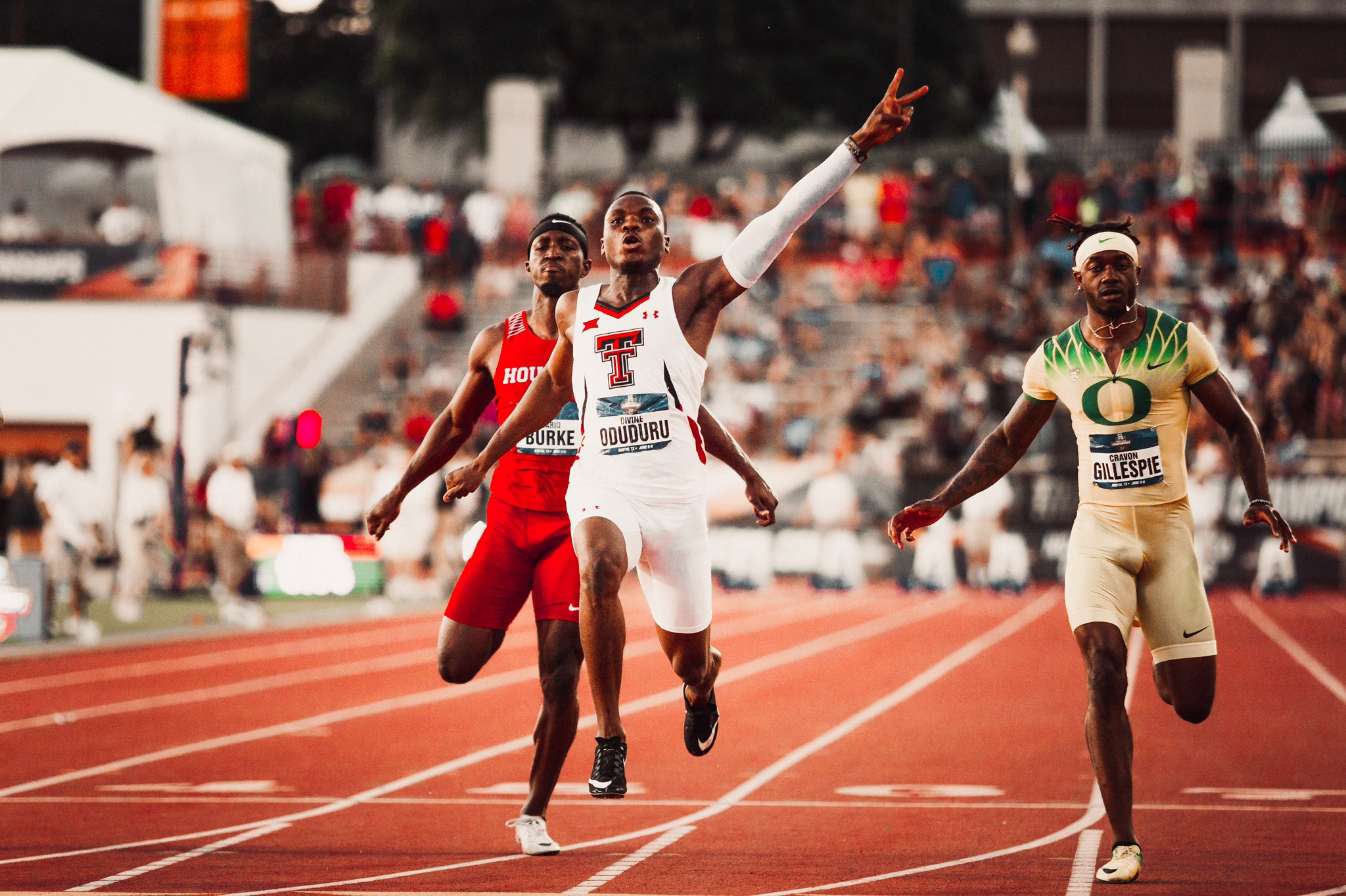 Oduduru Makes NCAA History; Fasuba, Osheku Hail 2nd Nigerian, 3rd African To Complete Sprint Double