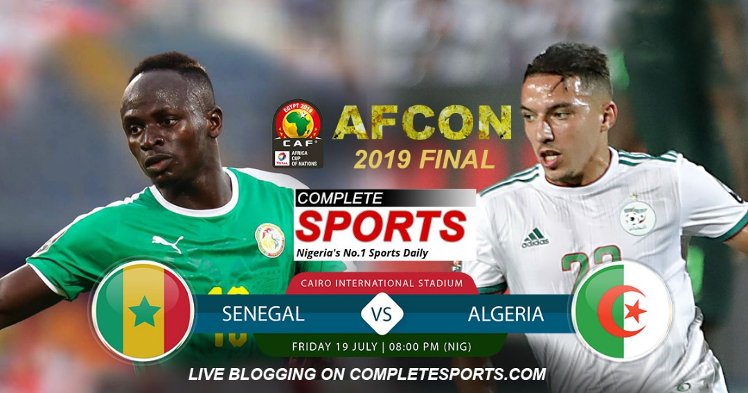Live Blogging: Senegal Vs Algeria (AFCON 2019 Final)