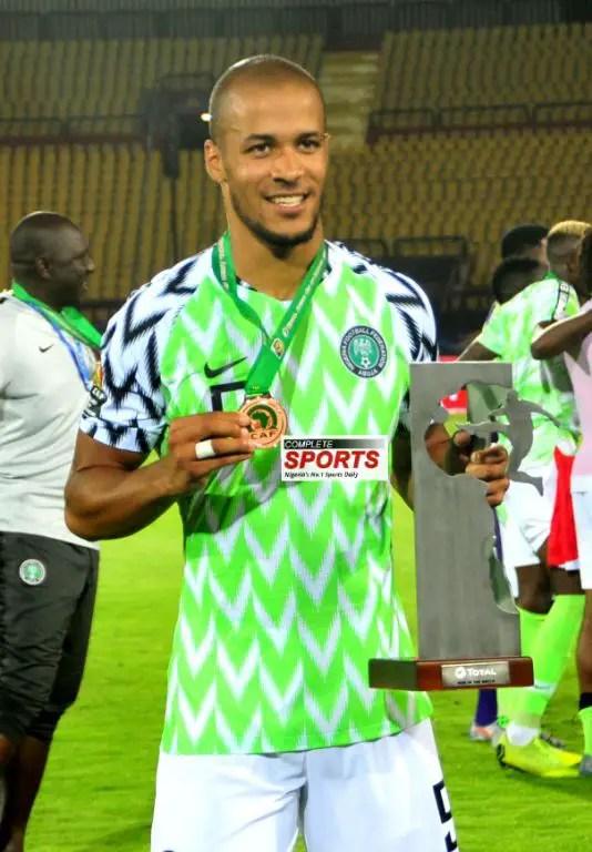 Troost-Ekong Bags Man Of The Match Award In Nigeria's Win Vs Tunisia