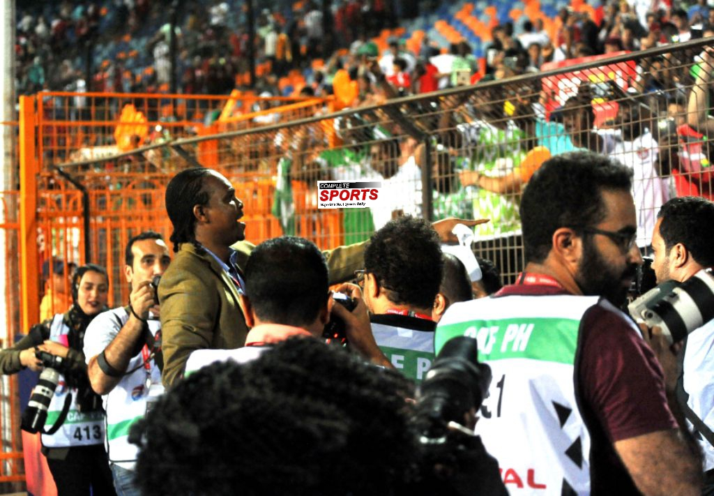 Kanu Mobbed By Happy Egyptian Fans After Eagles' Win Against Bafana