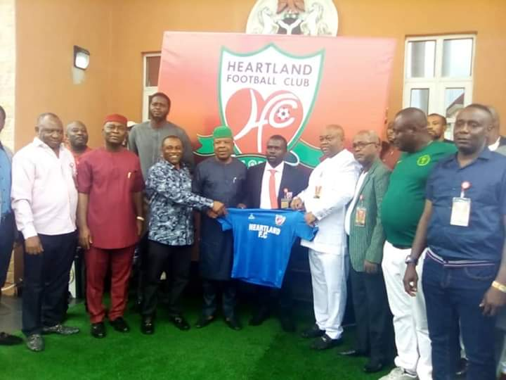 Imo Governor Ihedioha Unveils Ilechukwu As Heartland Coach