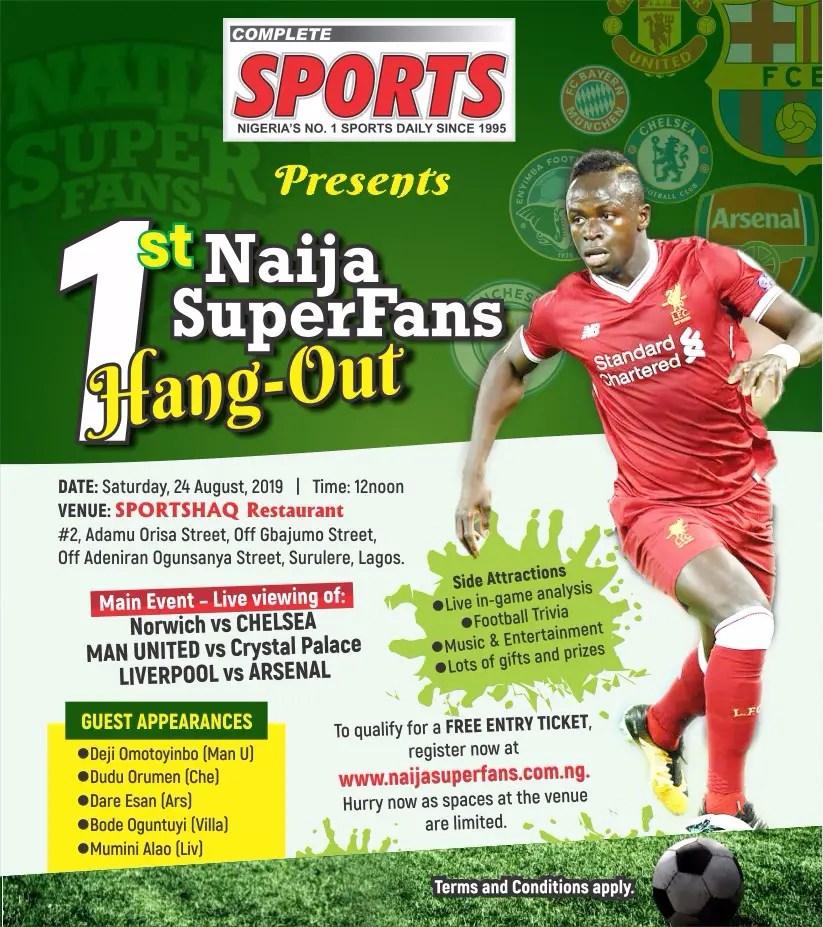 NaijaSuperFans Hang-out Holds Today