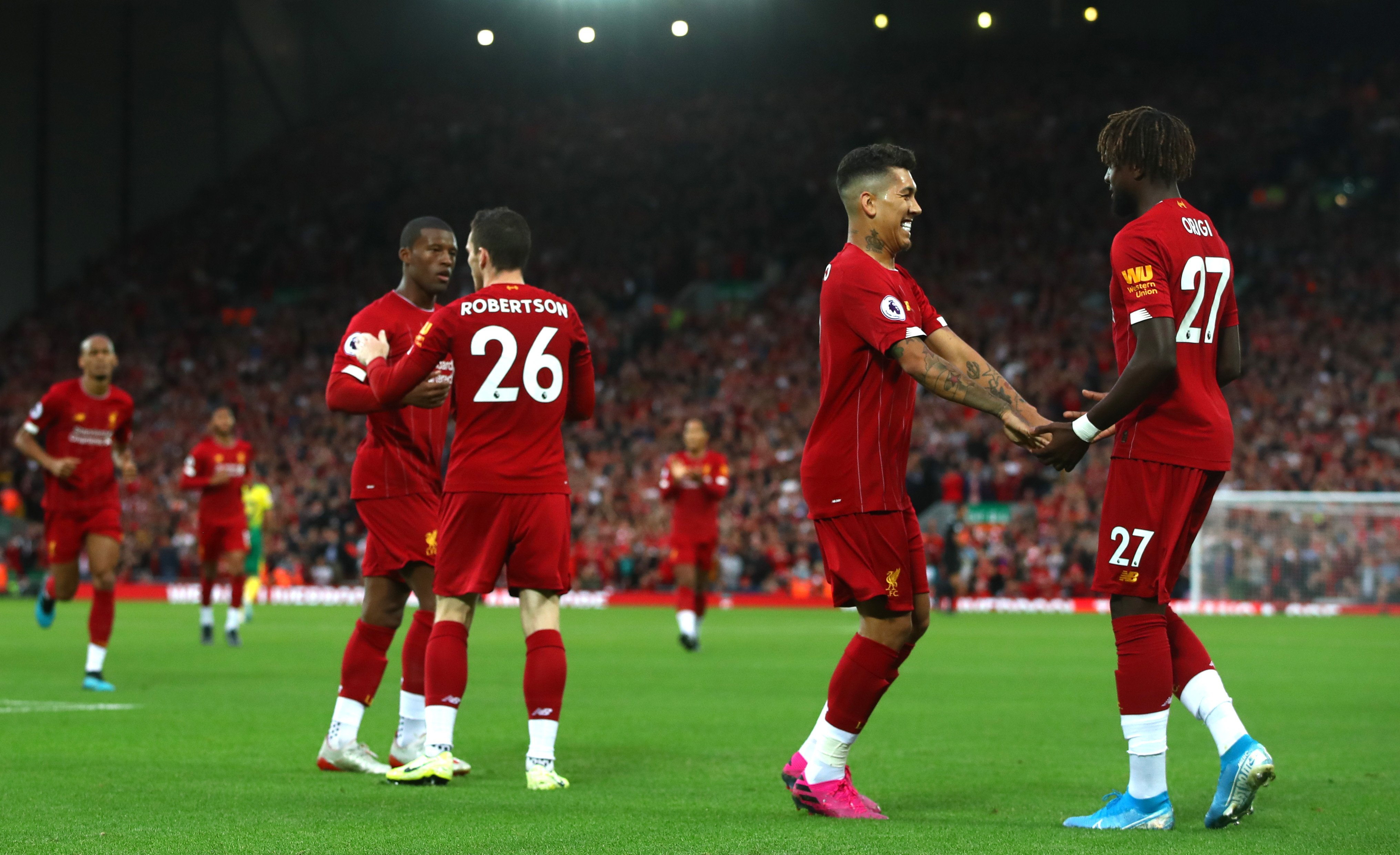 Liverpool Beat Norwich City At Anfield In Season Opener