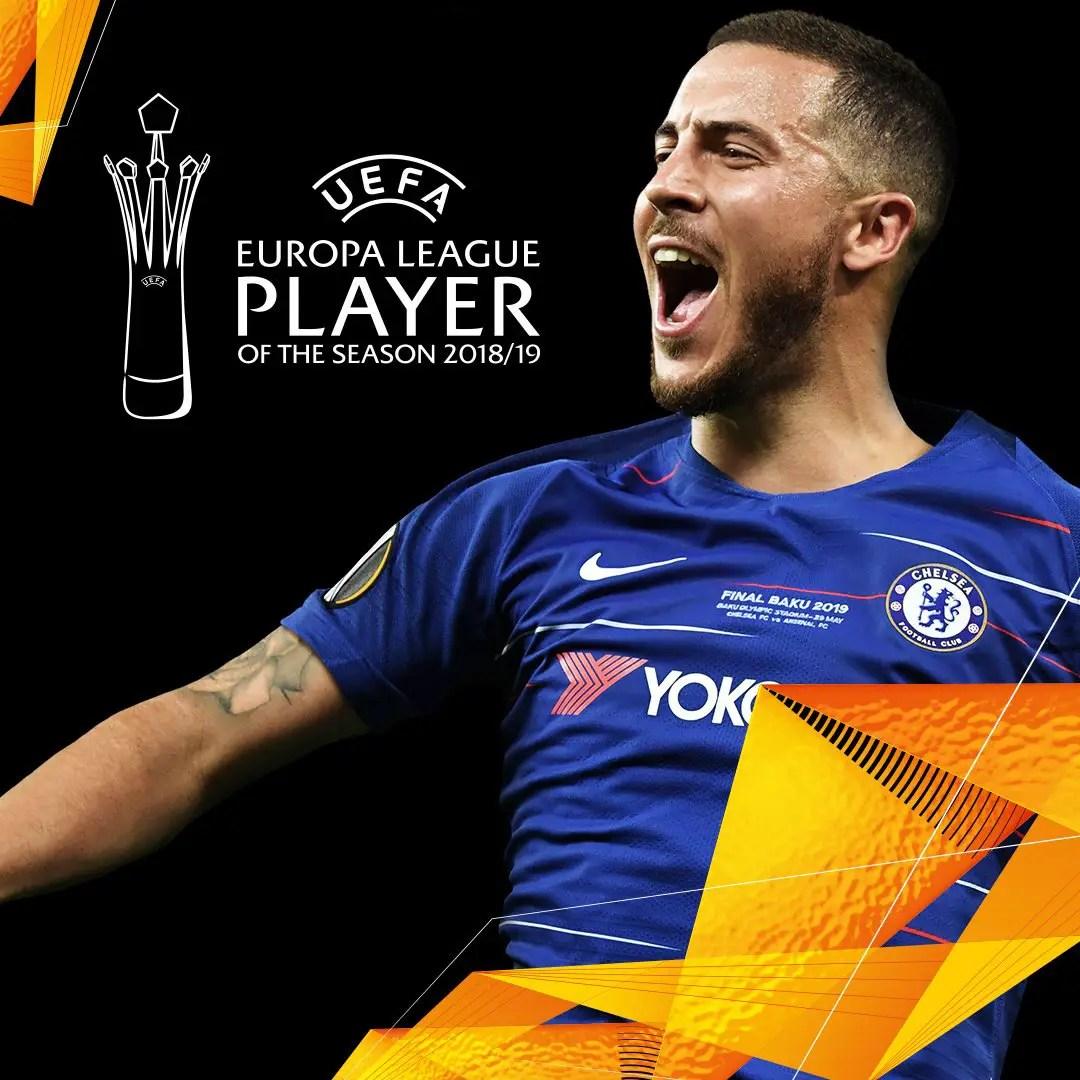 Hazard Wins Europa League Player Of 2018/2019 Season