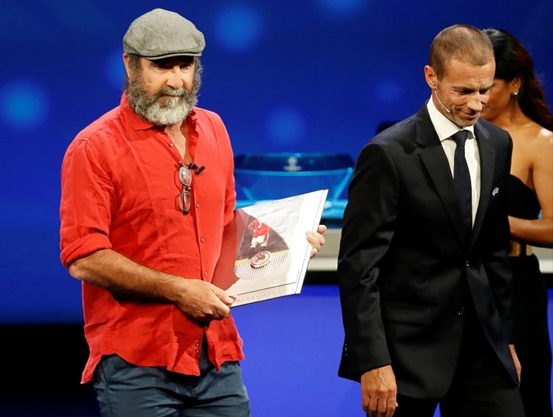 Cantona Receives UEFA President's Award But Confuses Audience With Bizzare Acceptance Speech