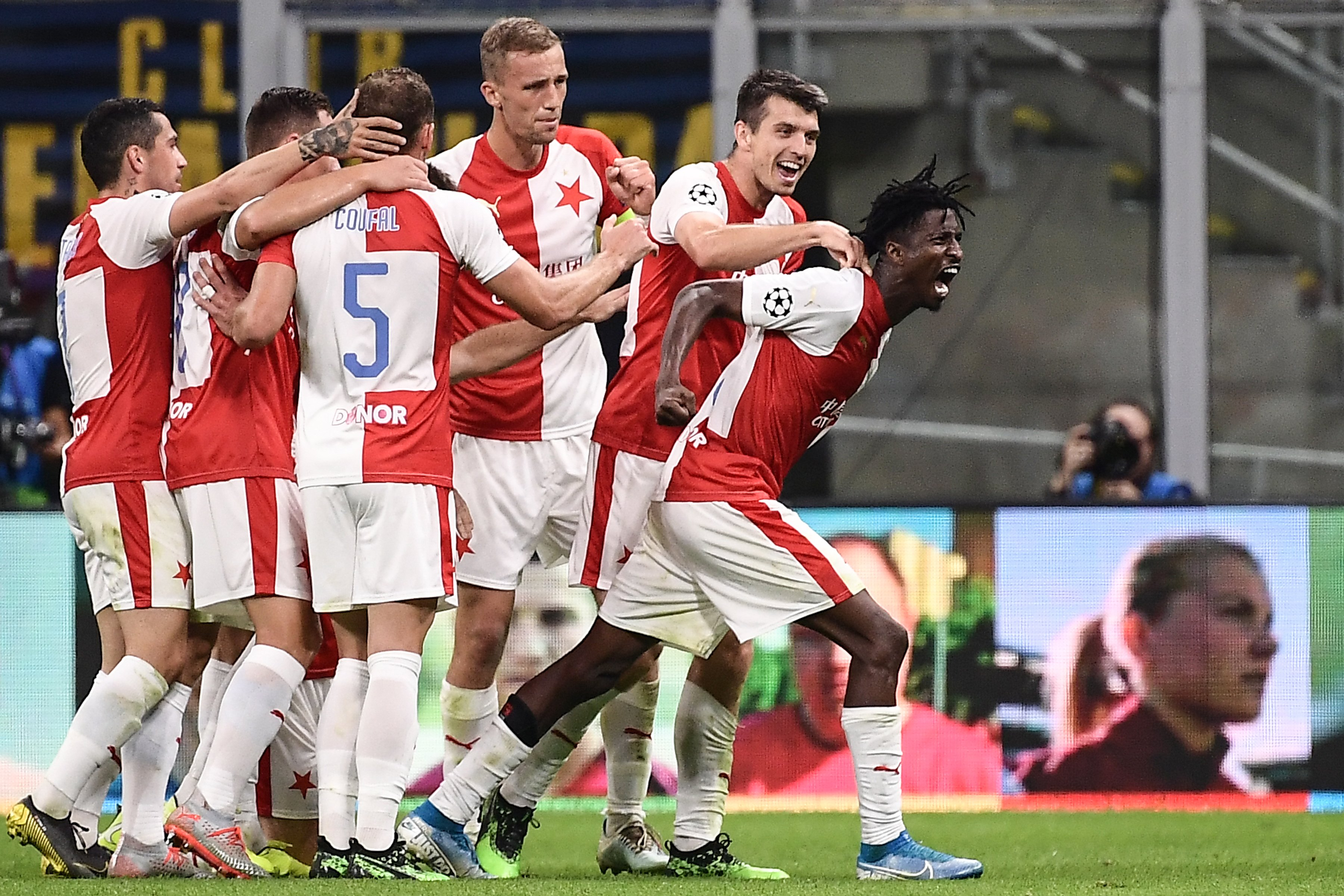 Olayinka Voted MVP By Slavia Prague Fans In UCL Draw At Inter