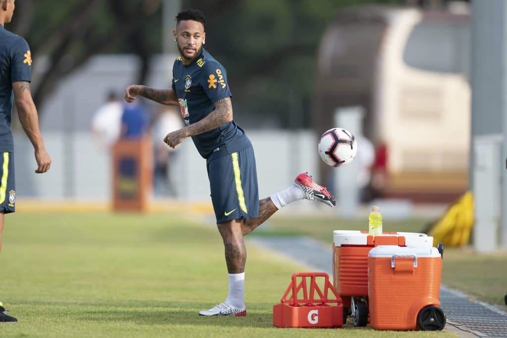 Brazil Hold First Training Session In Kallang Ahead Super Eagles Friendly