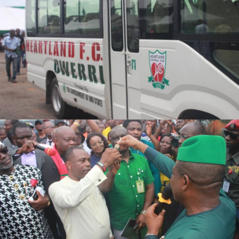 Heartland Thankful To Governor Ihedioha For New Bus Gift