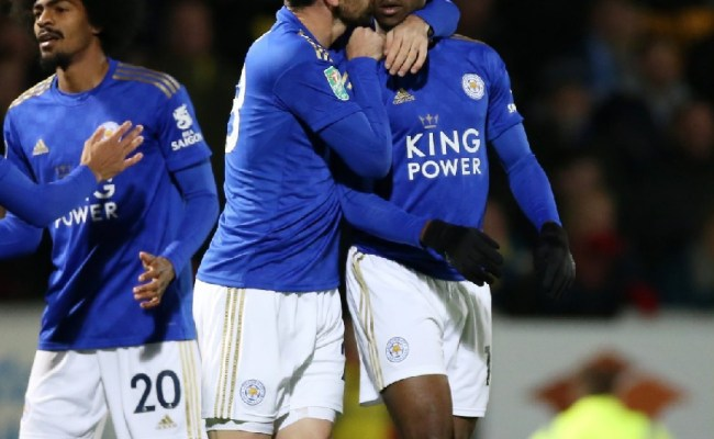 Iheanacho Scores In Leicester Carabao Cup Match Win Vs Burton