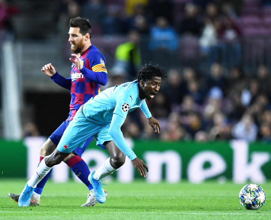Olayinka Rated Slavia Prague's 2nd Best Player In Draw At Barcelona