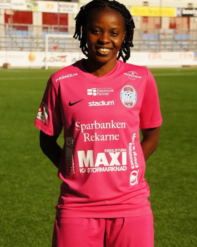 Super Falcons Star Okobi Extends Contract With Swedish Club Eskilstuna Utd