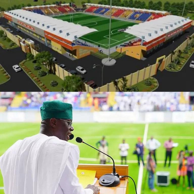 Sanwo-olu Renames Onikan Stadium Lagos After Late Mobolaji Johnson