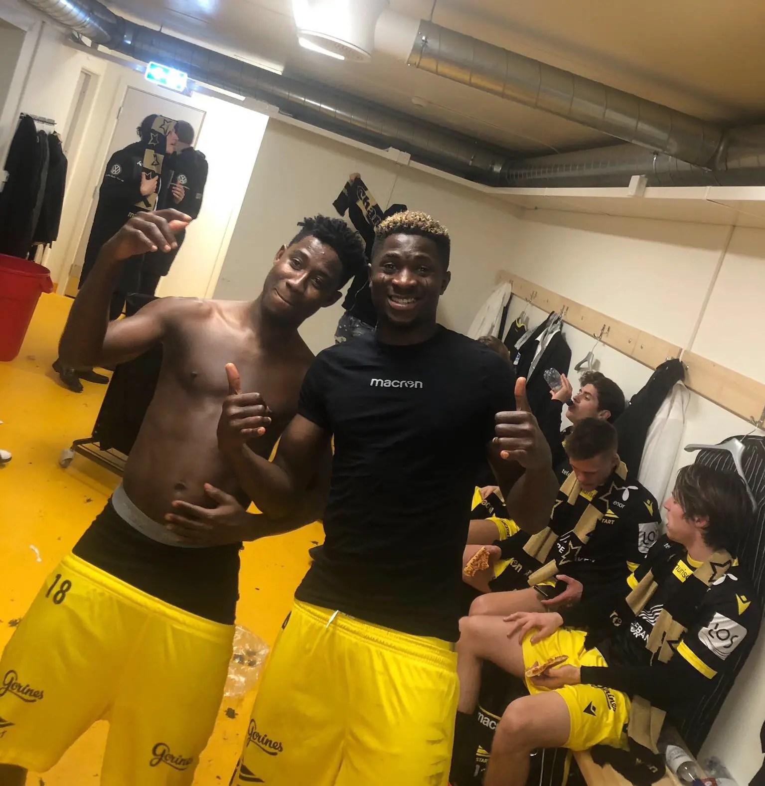 Aremu Celebrates Norwegian League Promotion With IK Start