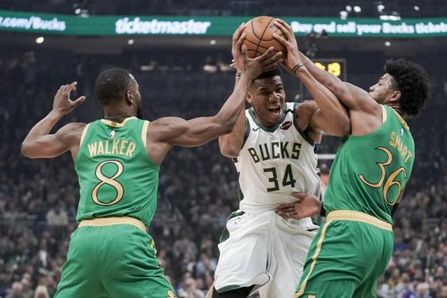 Giannis Antetokounmpo Finishes With 32 Points And 17 Rebounds As Bucks Beat Celtics 128-123 At Home