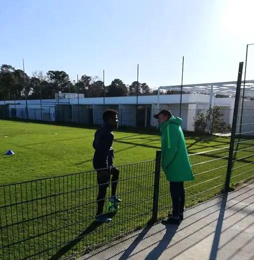 Rohr Visits Maja, Kalu at Bordeaux Training Base in France