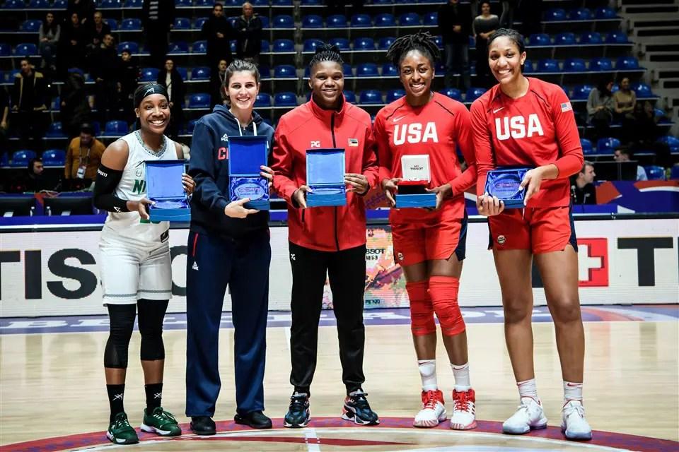 D'Tigress' Kalu Makes Tokyo Olympics Qualifying All-Star Team