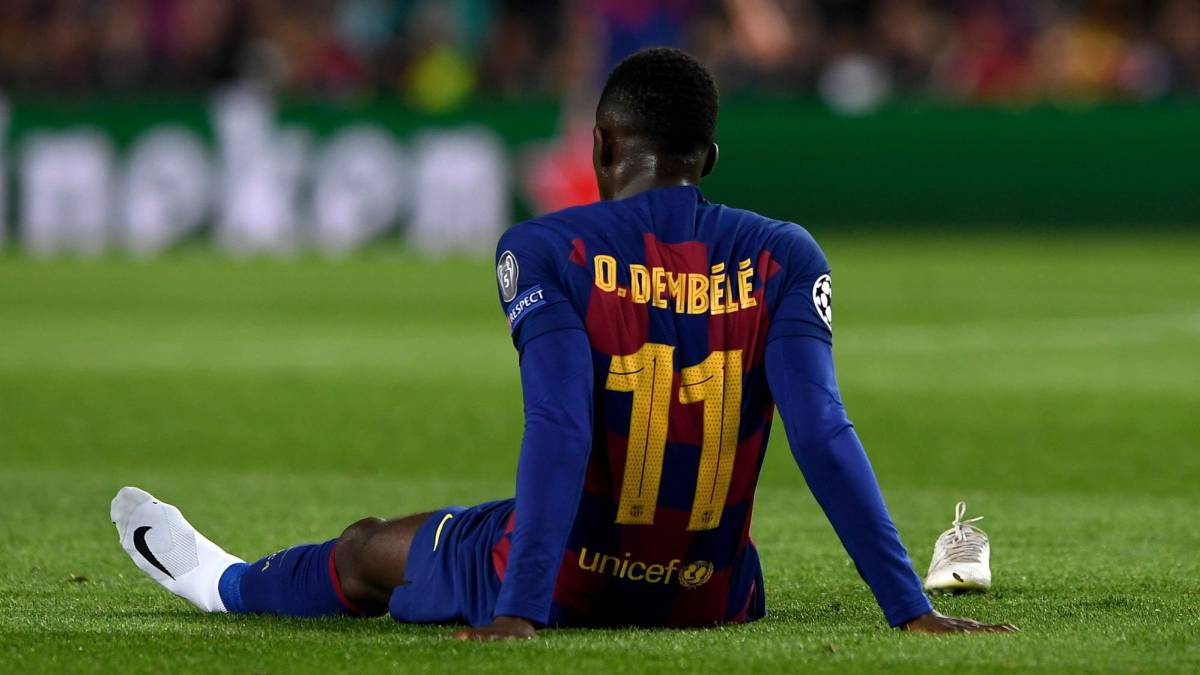 Barcelona Winger Dembele Out For Six Months After Hamstring Surgery