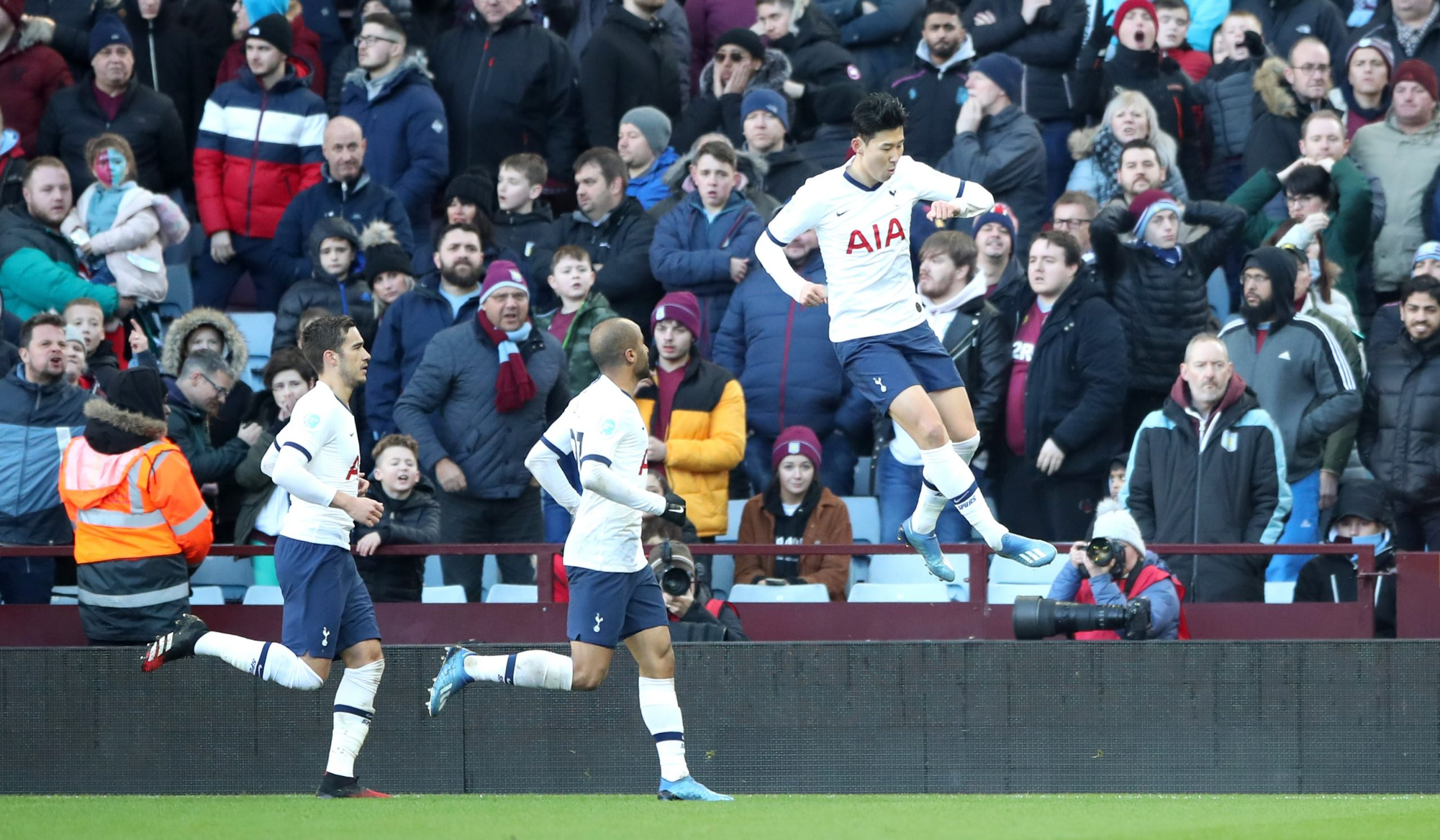 Son's Late Goal Secure Win For Spurs vs Villa; Boost Champions League Push