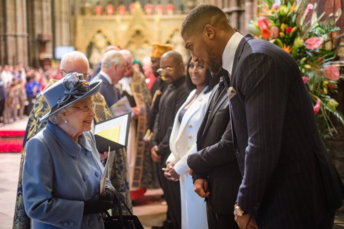 Joshua Talks About Egusi, Pounded Yam As He Meets With  Queen Of England