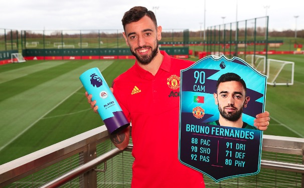 Fernandes Wins Premier League Player Of The Month  Award For February
