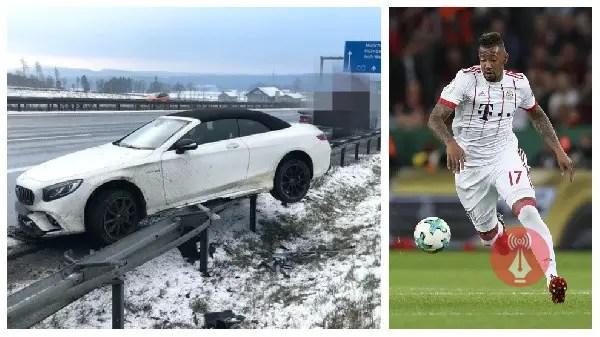 Bayern Munich Star Boateng Involve In Auto Crash