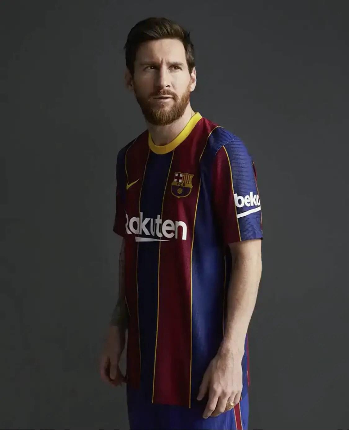 Oshoala, Messi, Pique, Suarez Model Barcelona's New Kit For Next Season