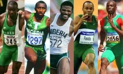 nigerian-athletes-athletics- sunday-bada-innocent-egbunike-ajayi-agbebaku-olusoji-fasuba-francis-obikwelu