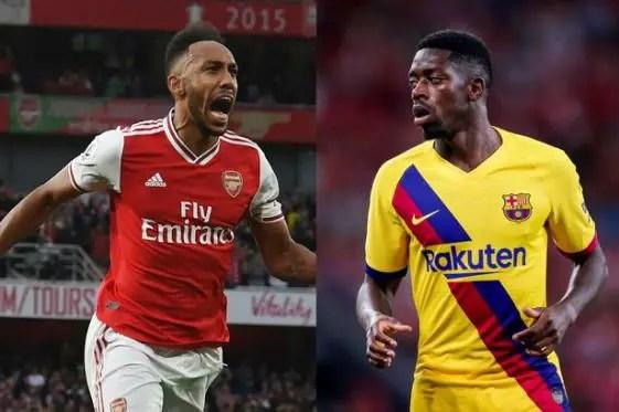Aubameyang Urges Arsenal To Sign Former Teammate Dembele