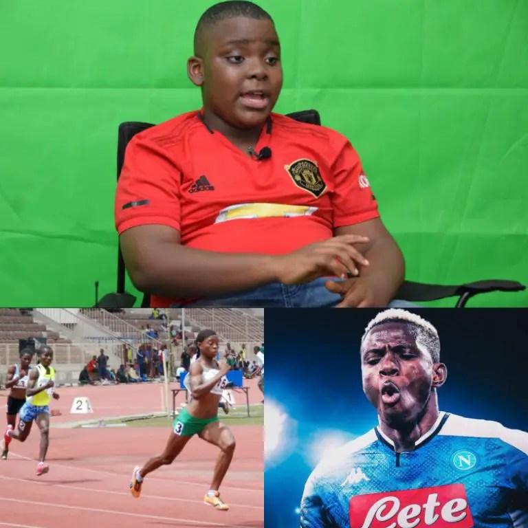 11 Year Old Analyst, Erondu Speaks About Osimhen, Ighalo, Revamping Nigerian Sports