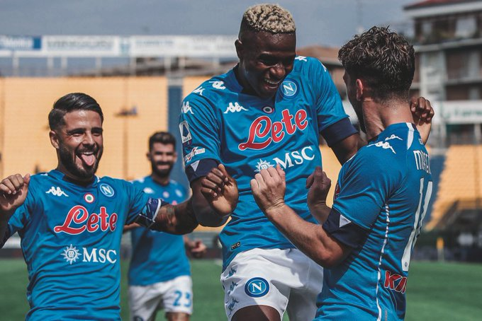 'He Reminds Me Of Cavani'- Napoli Captain Insigne In Awe Of Osimhen Ability