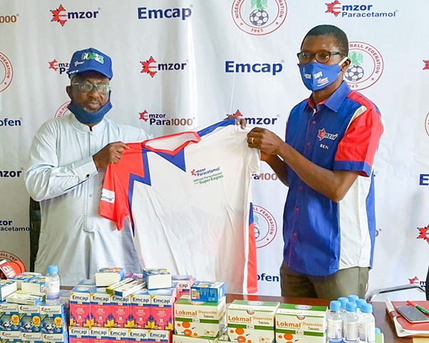 Emzor Strengthens Partnership With NFF, Presents Products